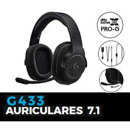 LOGITECH 981-000667 HEADSET G433 NEGRO GAMING USB/3.5MM