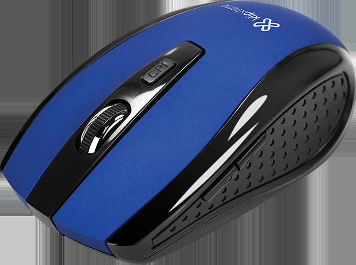 Mouse inalámbrico Klip XtremeKleverKMW-340 Azul